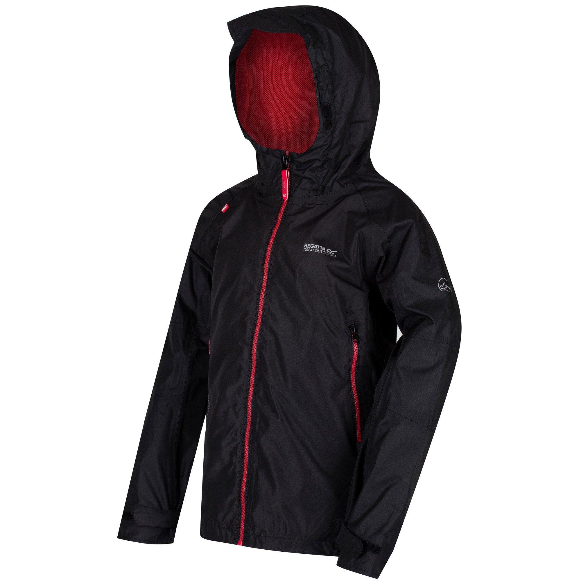 7631e8dea4bde Regatta Allcrest II Kids WP Jacket (Black/Black) - Wow Camping