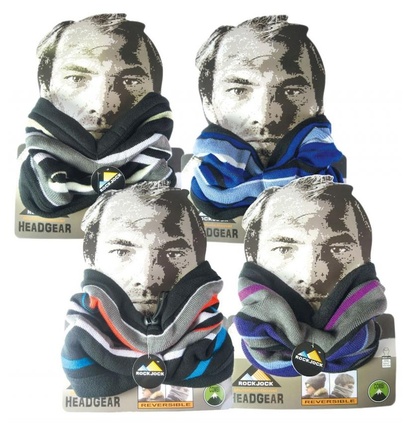 Rock Jock Knit Fleece Line Neck Warmer Choice of 4 different colous
