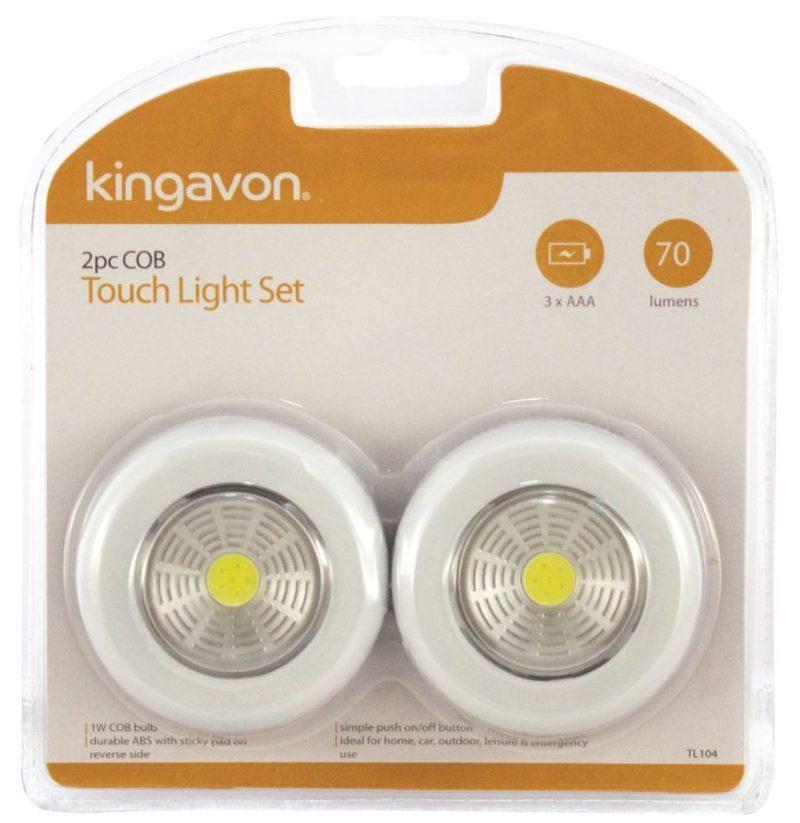 Kingavon 2pc COB Touch Light Set