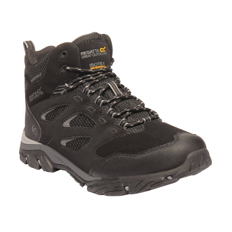Regatta Holcombe IEP Mid Walking Boot (Black/Granite)