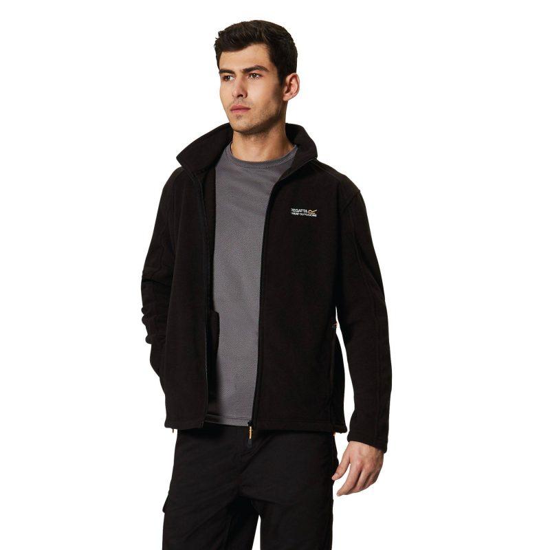 Regatta Hedman II Mens Full Zip Fleece (Black)