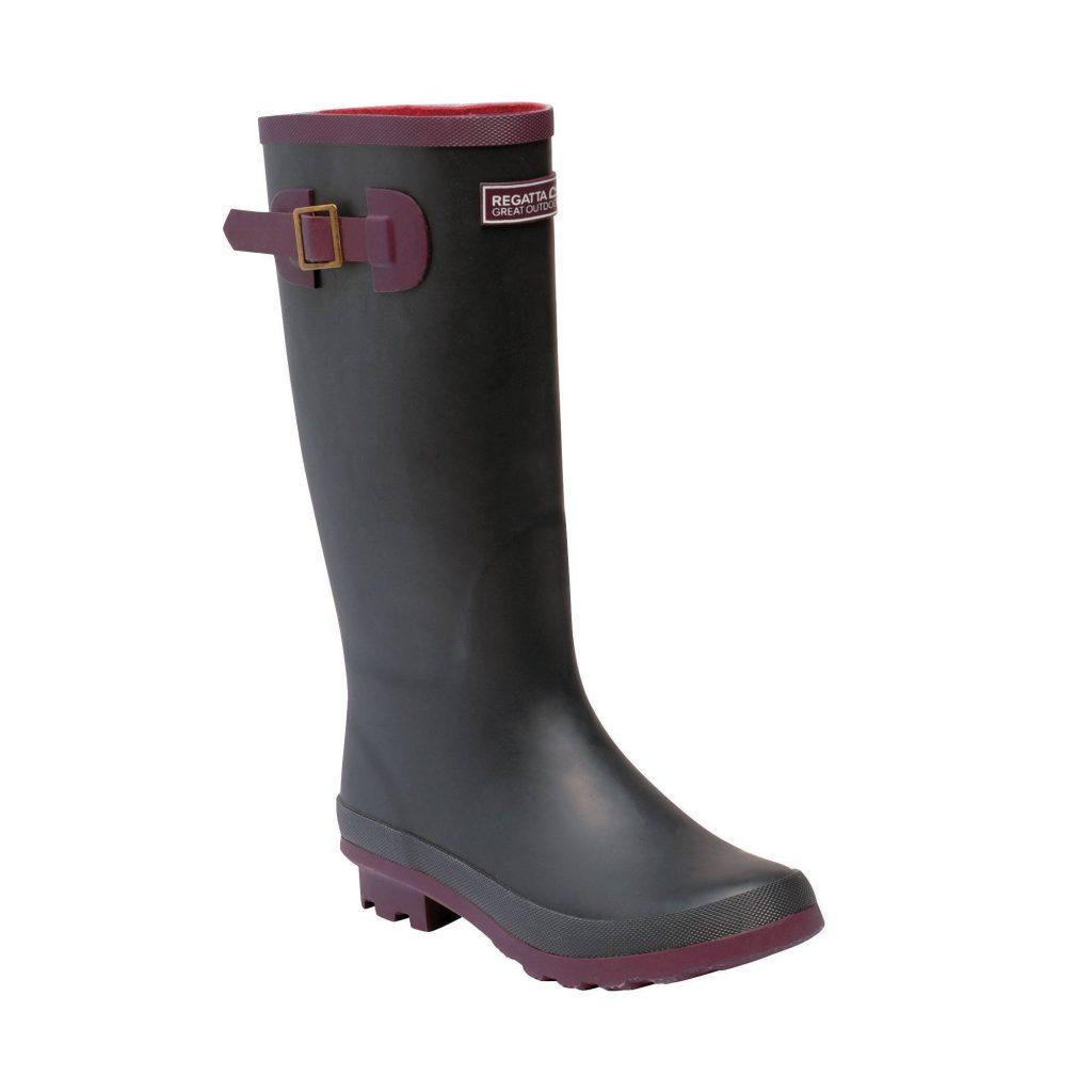 Regatta Lady Fairweather II Welly Boots Iron/Prune