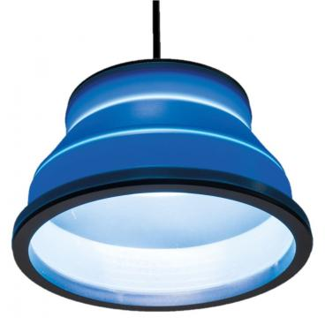 Kampa Groove - Collapsible Pendant Light Blue 240v/12v with Remote