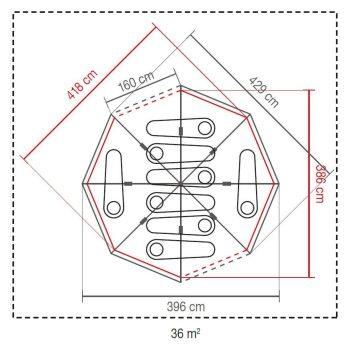 Coleman Octagon 8 Blackout Tent 2021 Model