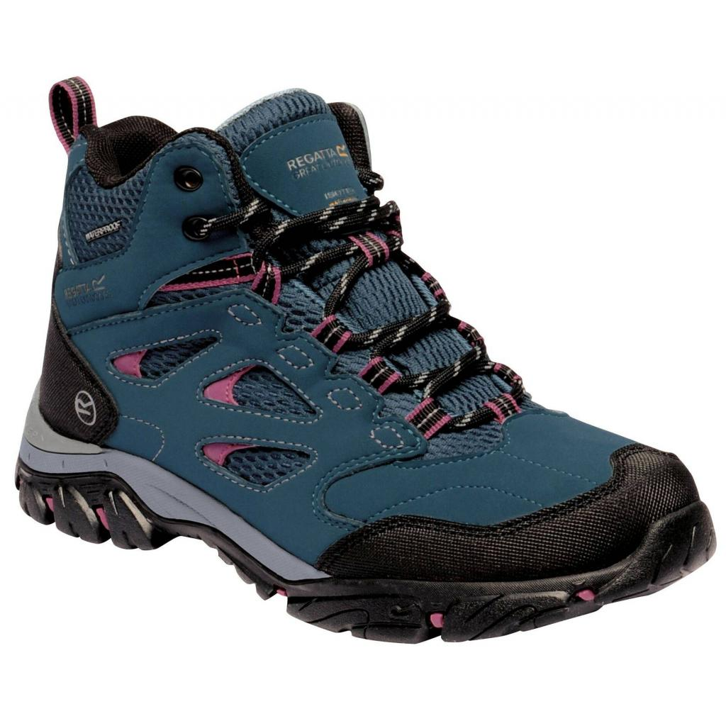 Regatta Holcombe IEP Mid Walking Boots Morroccan Blue/Red Violet
