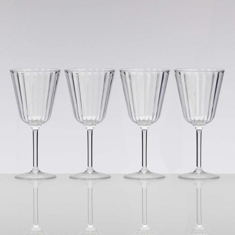 Flamefield Crystaline Acrylic Wine Glass 4 Pack
