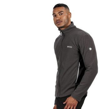 Regatta Highton Mens Full Zip Fleece (Magent/Black)