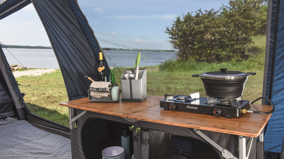 outwell padres double kitchen table  wow camping