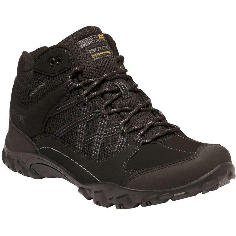 Regatta Edgepoint Mens Walking Boots (Black/Granit)