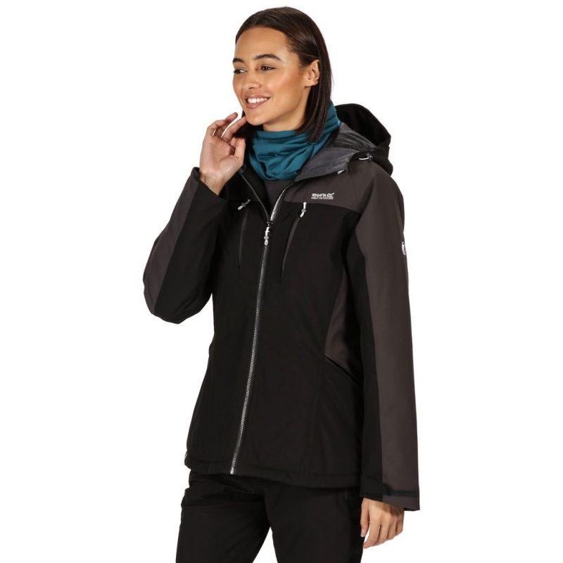 Regatta Highton Stretch Padded Jacket (Black/Ash)