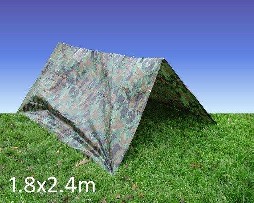 Camouflage Tarpaulin / Groundsheet 1.8M x 2.4M