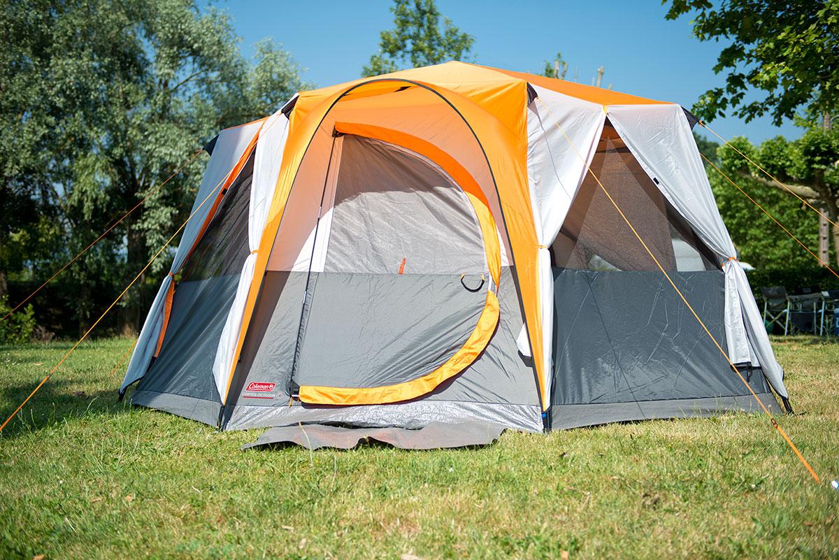 Coleman Cortes Octagon 8 Tent Orange - 2021 - Wow Camping