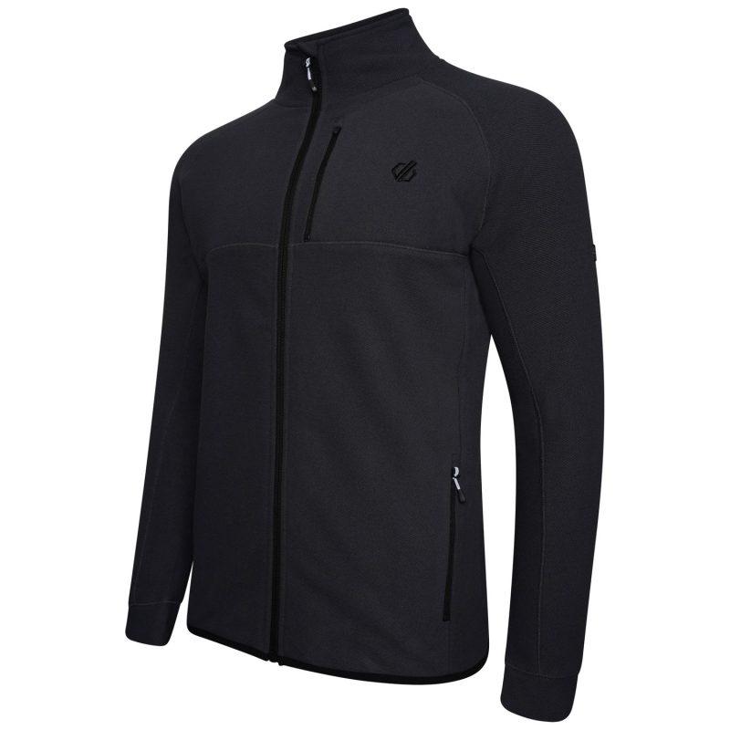 Dare2b Diluent Mens F/Zip Pique Fleece (Ebony Grey)