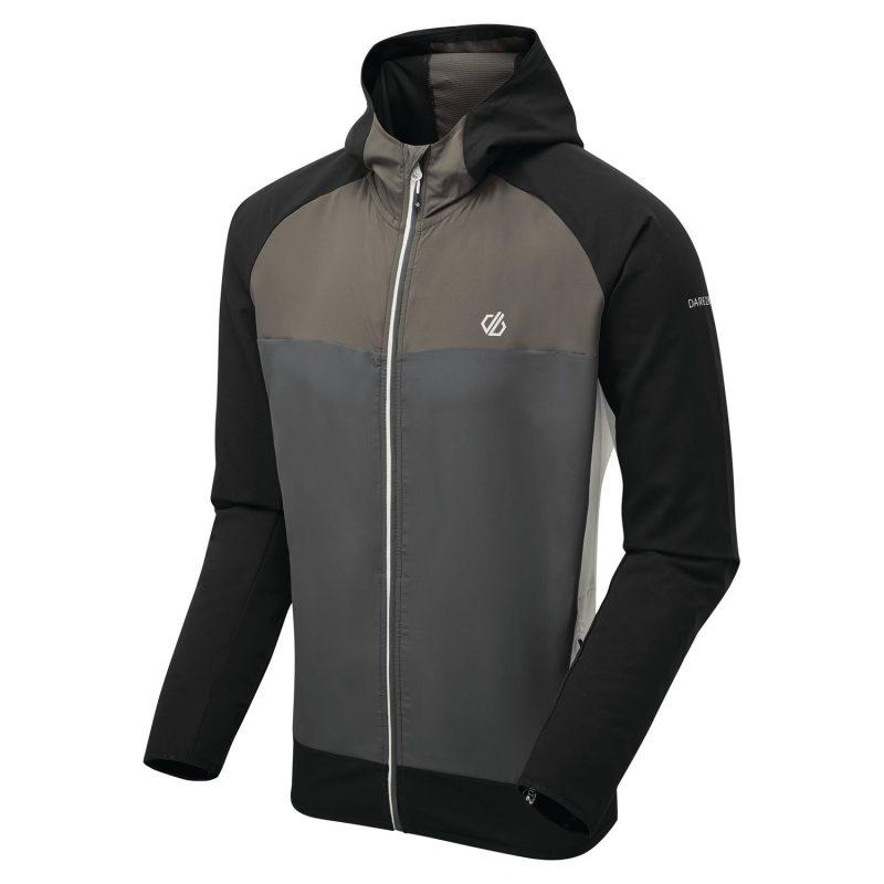 Dare2b Aptile Mens F/Zp Softshell Jacket (Ebony/Black)