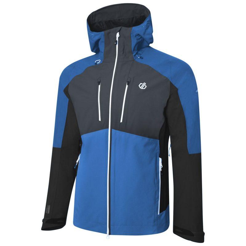 Dare2b Soaring Mens Waterproof Jacket (Athletic Blue/Ebony)