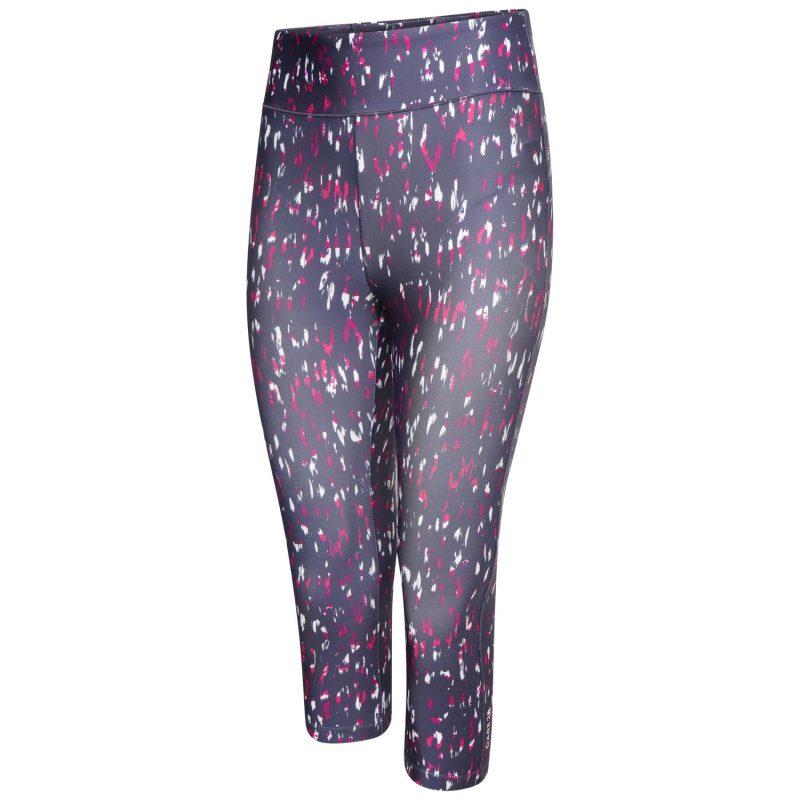 Dare2b Influential 3/4 Leggings (Active Pink Leopard Print)