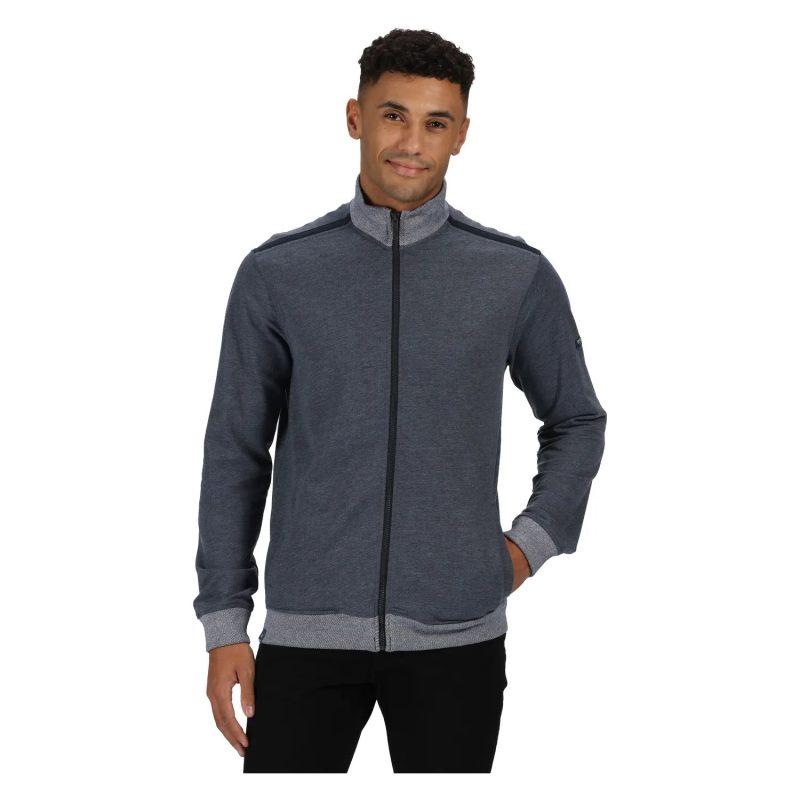 Regatta Everard Mens F/Zip Marl Sweater (Ash Marl)