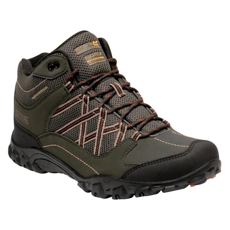 Regatta Edgepoint Mid WP Walking Boots (Bayleaf/Burnt Umber)