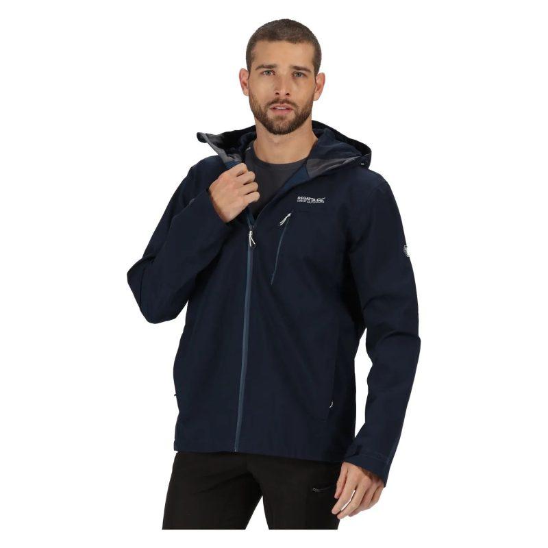 Regatta Birchdale Mens Waterproof Jacket (Dark Denim)