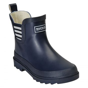Regatta Harper Junior Ankle Wellies (Navy/White)