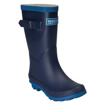 Regatta Fairweather Junior Wellies (Navy/Snorkel Blue)