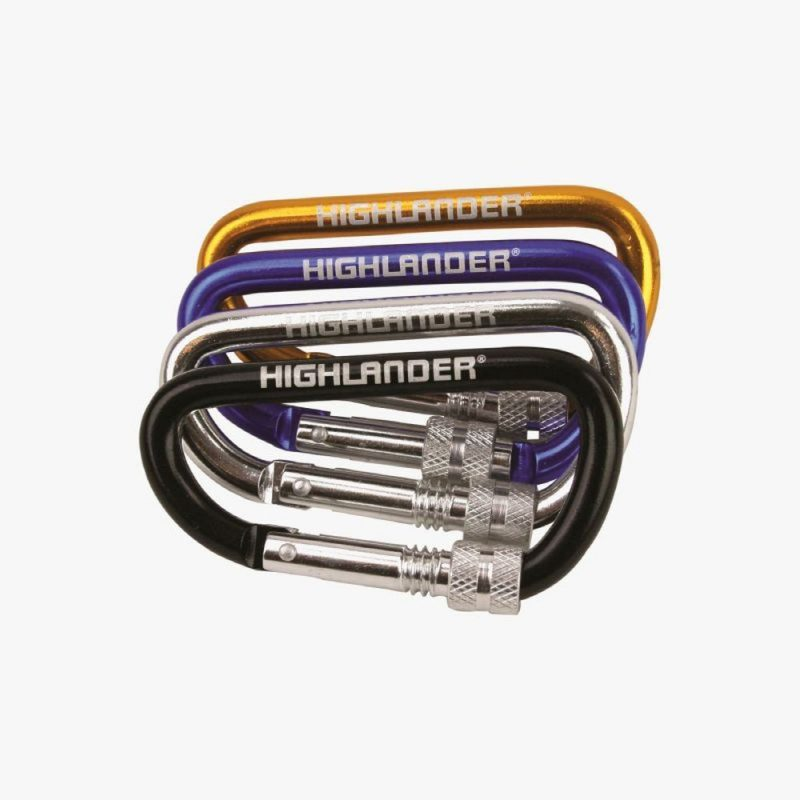 Highlander Screwgate Karabiner Choice of 6 colours