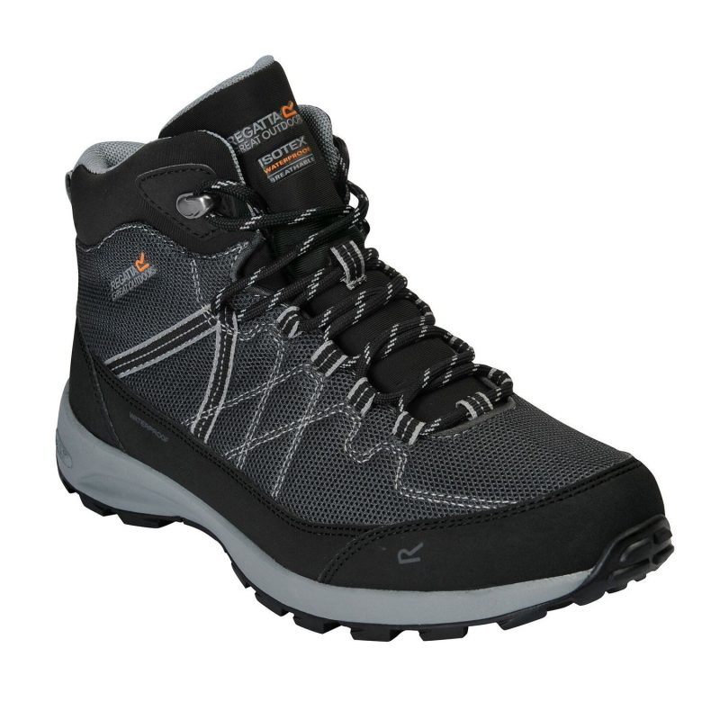 Regatta Samaris Lite Walking Boots (Black/Dark Steel)