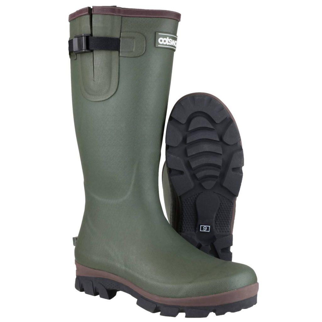 Cotswold Grange Buckle Wellington Boots Green