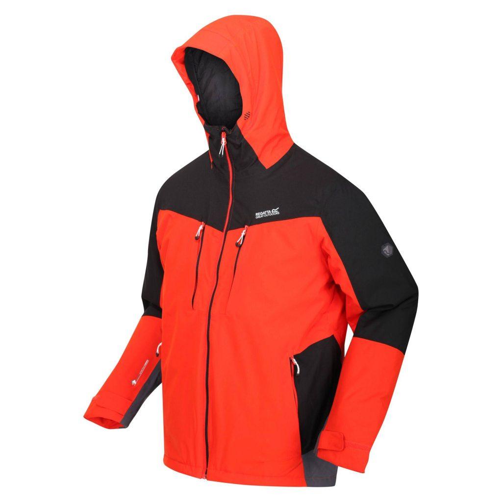 Regatta Highton Stretch Padded Jacket Cajun Orange/Black